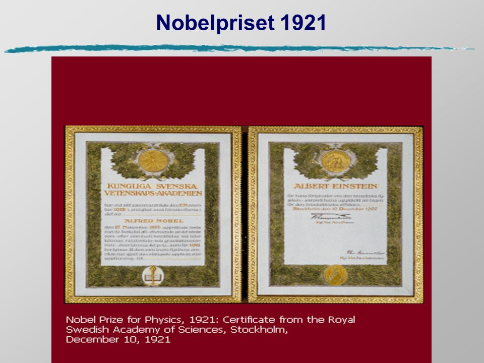 Nobelpriset 1921