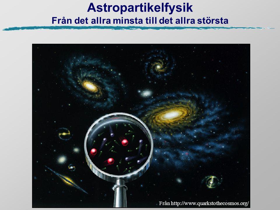 Astropartikelfysik Från det allra minsta till det allra största Från http://www.quarkstothecosmos.org/