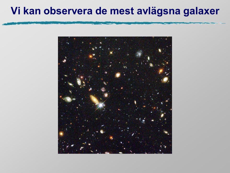 Vi kan observera de mest avlägsna galaxer