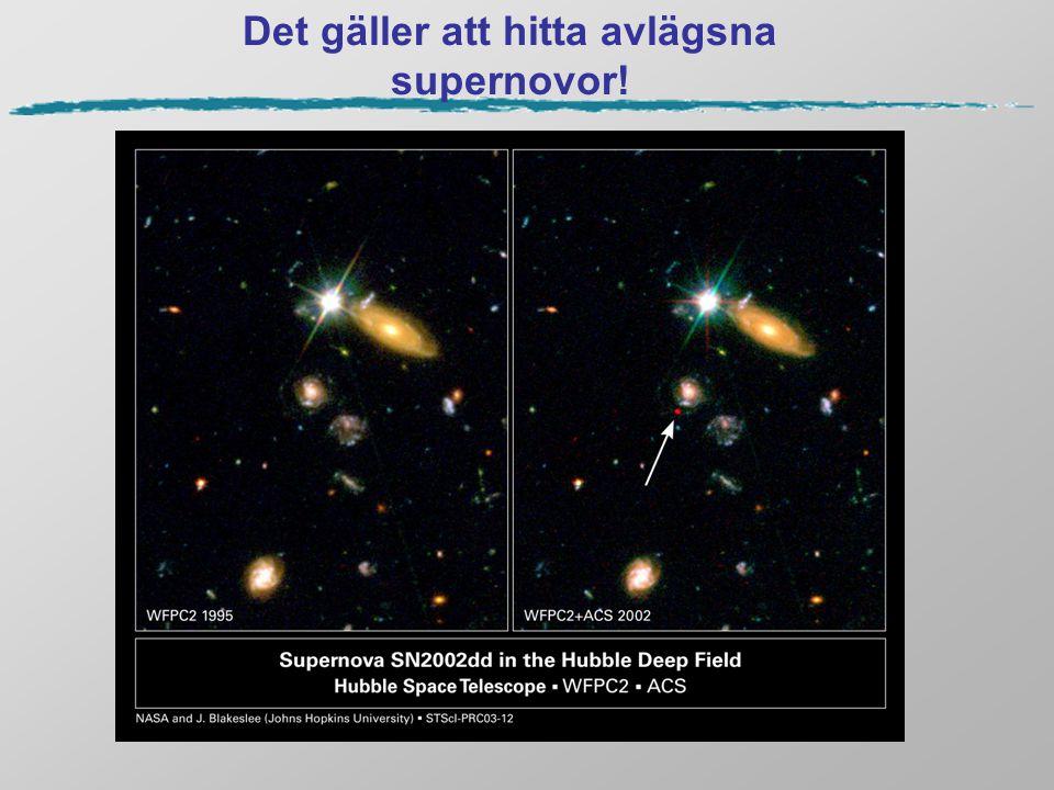 Det gäller att hitta avlägsna supernovor!