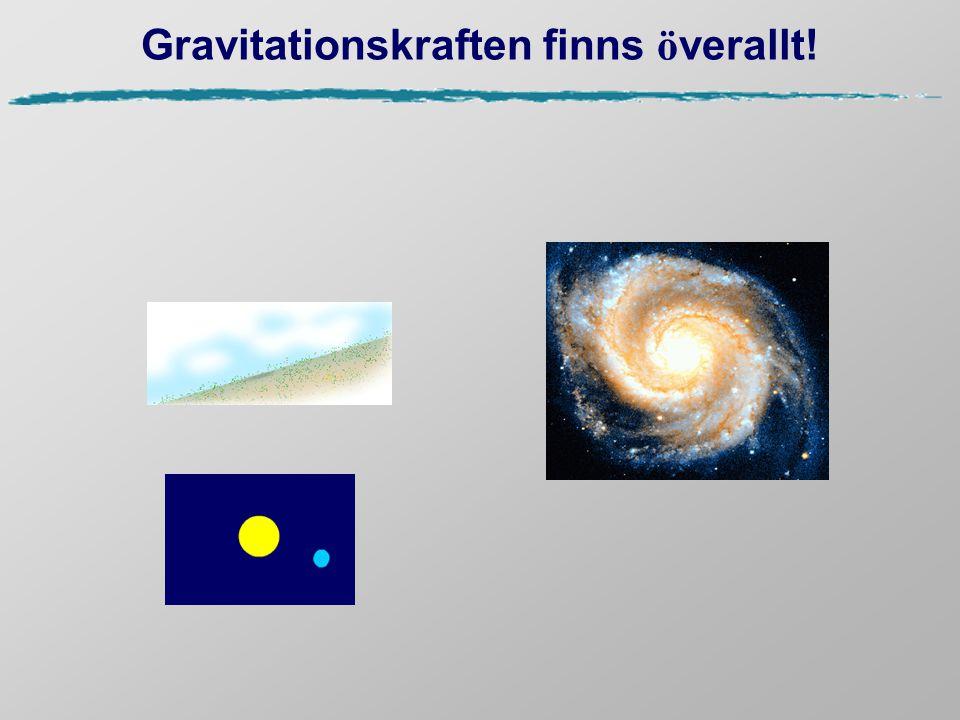 Einsteins gravitation: geometrisk tolkning Rummet kröks runt massiva kroppar, leder till krökta banor!