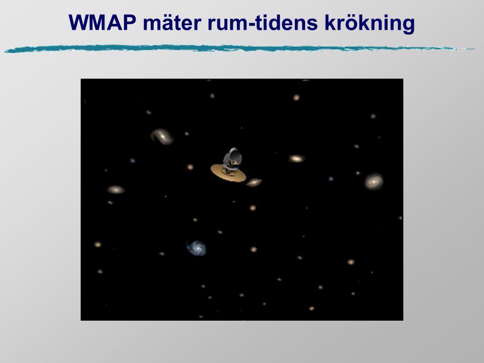 WMAP mäter rum-tidens krökning