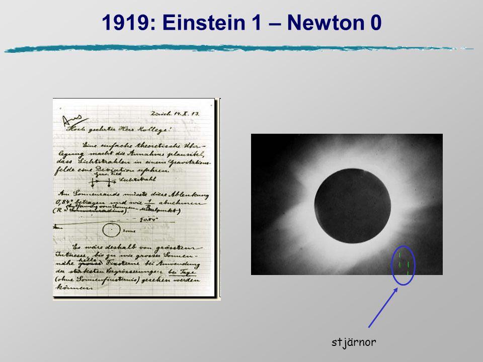 Den kosmologiska standardmodellen  Universum är homogent och isotropt: Robertson-Walker metrik  Einsteins gravitationsteori I begynnelsen var universum hett och tätt och har efter det expanderat (Big Bang).