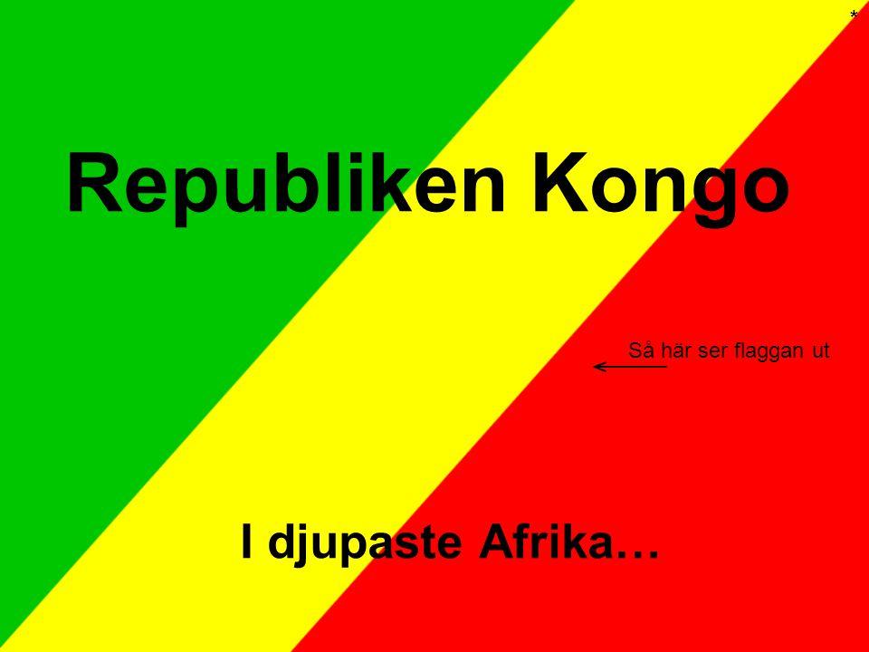 Republiken Kongo I djupaste Afrika… Så här ser flaggan ut *