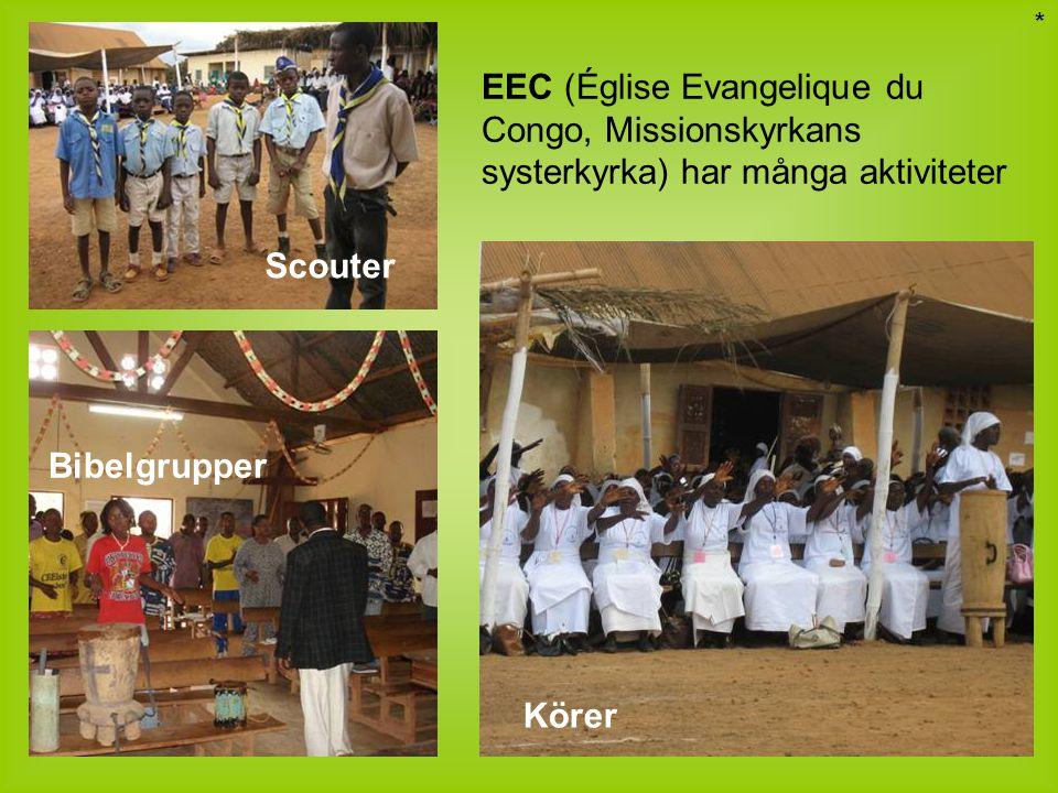 Bibelgrupper EEC (Église Evangelique du Congo, Missionskyrkans systerkyrka) har många aktiviteter Scouter Körer *