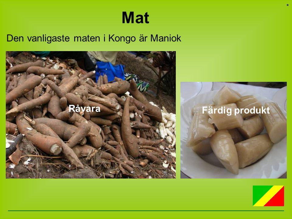 Det odlas mycket bananer i Kongo Matbananer, som man kokar eller friterar… *