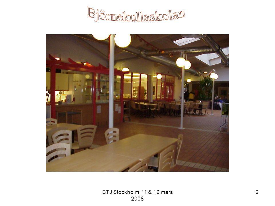 BTJ Stockholm 11 & 12 mars 2008 13 Hur.Gemensamt mål Tillsammans med lärarna arbeta mot målen.