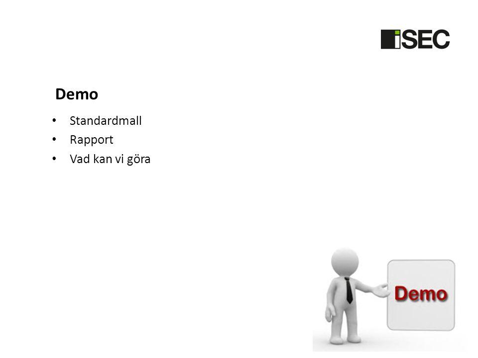 Demo Standardmall Rapport Vad kan vi göra