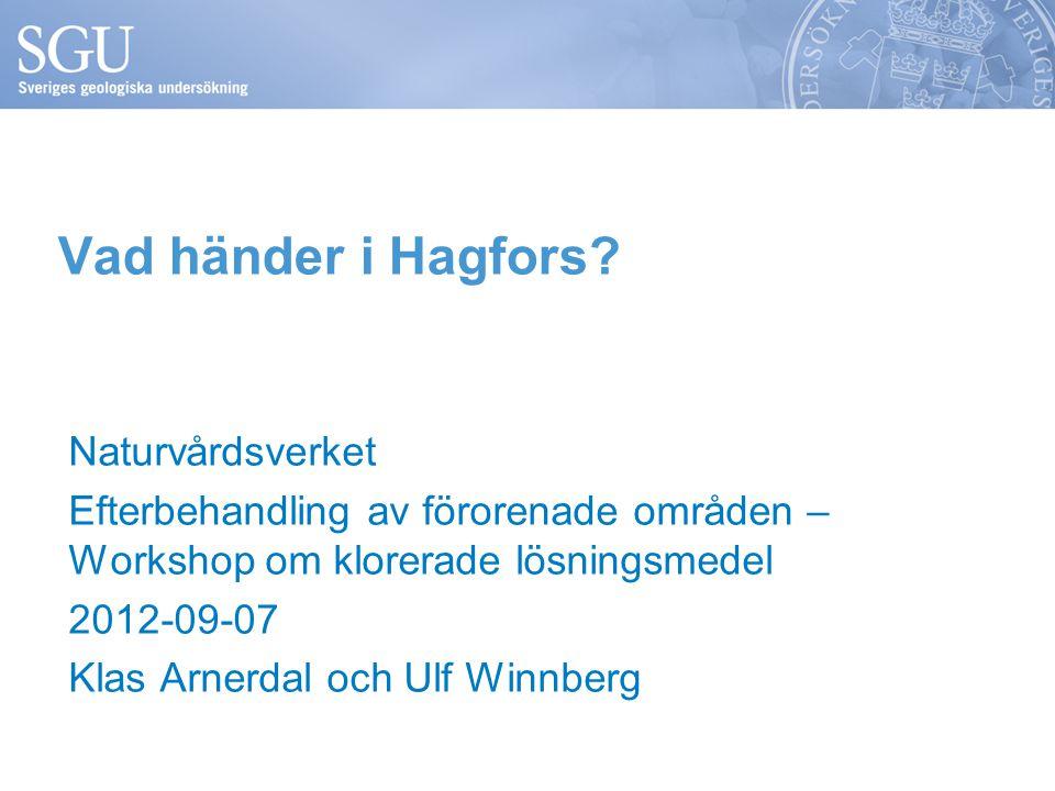Vad händer i Hagfors.