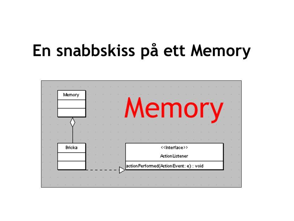 21 En snabbskiss på ett Memory