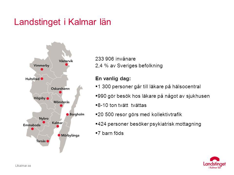 Ltkalmar.se Landstingets organisation