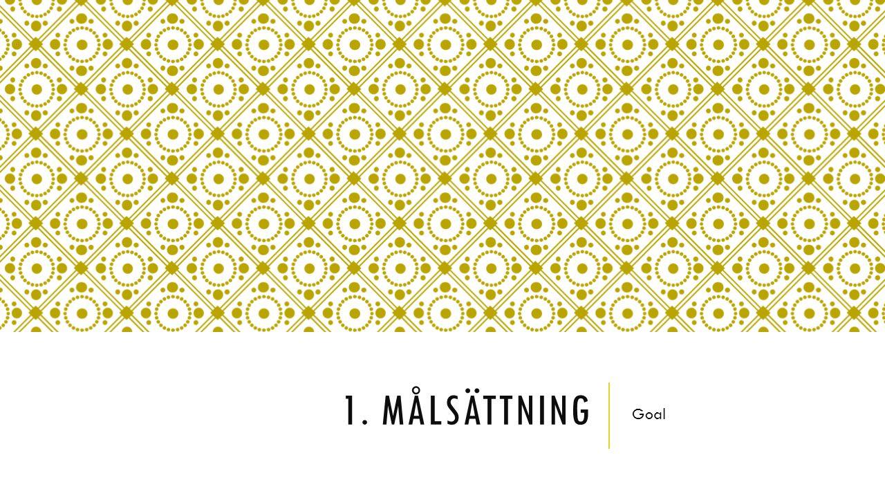 FAS 1.MÅLSÄTTNING – VILKET ÄR DITT MÅL. Består av tre delar: 1.