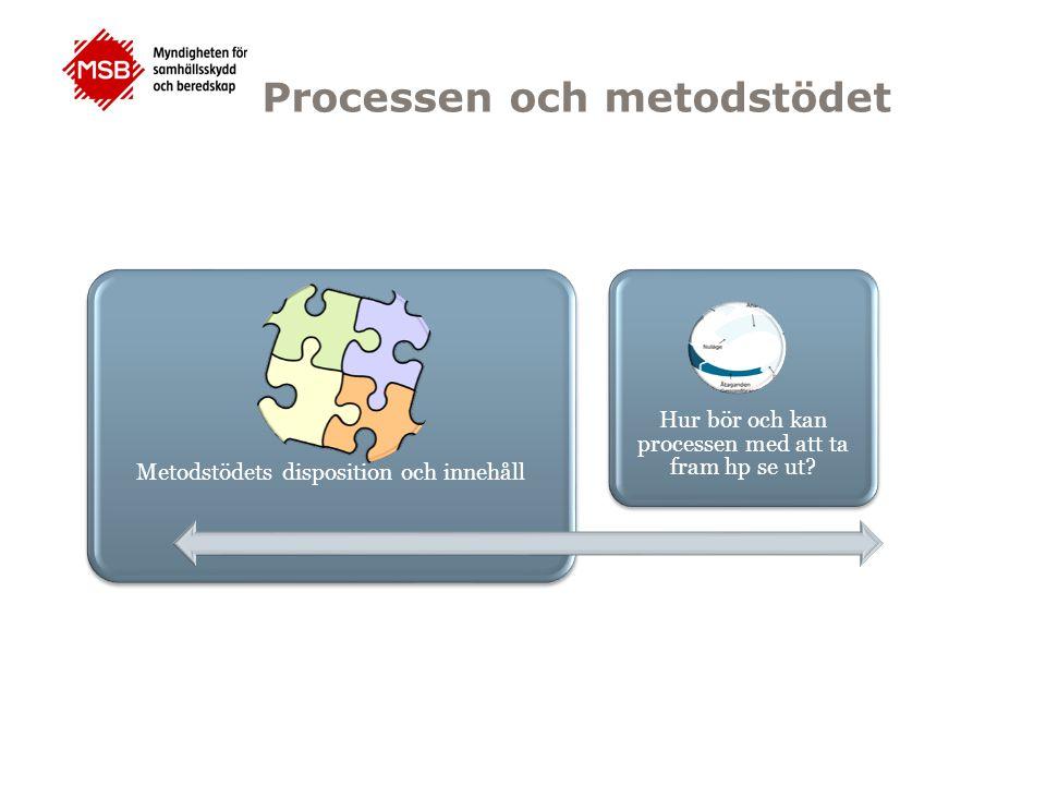 Hur bör och kan processen med att ta fram hp se ut? Metodstödets disposition och innehåll Processen och metodstödet