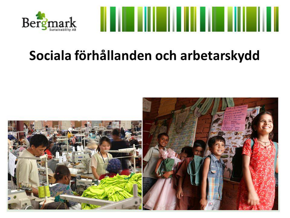 Sociala förhållanden och arbetarskydd