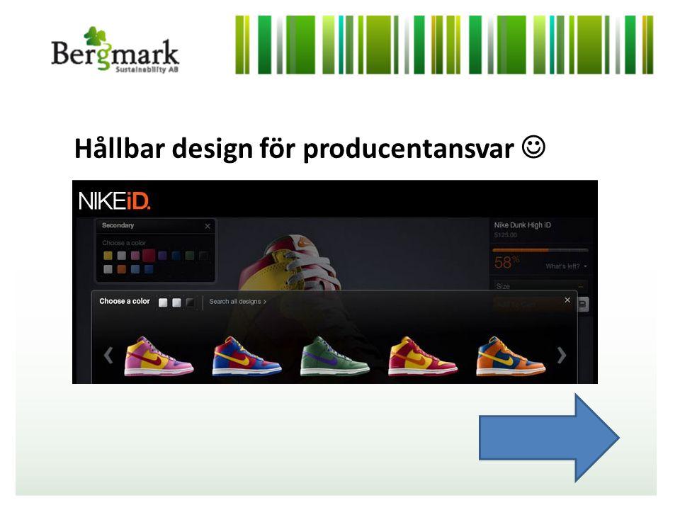 Hållbar design för producentansvar