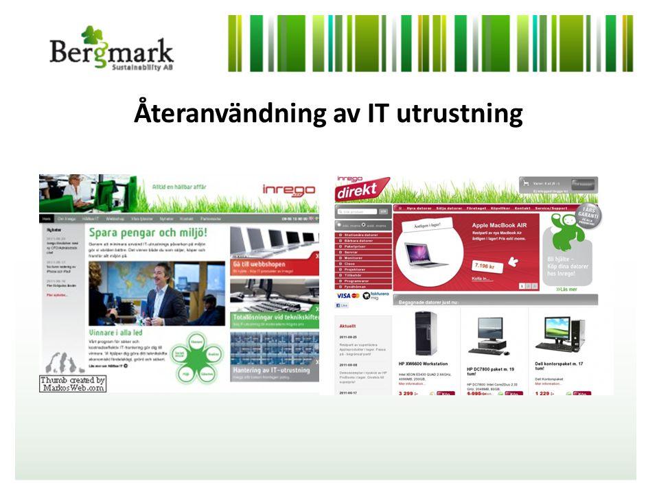 Återanvändning av IT utrustning