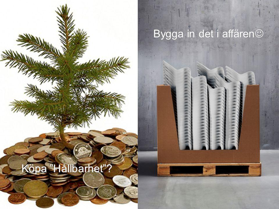 Köpa Hållbarhet ? Bygga in det i affären