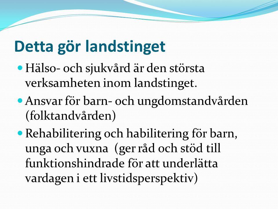 Inkomster Landstingsskatt