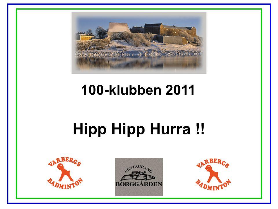 100-klubben 2011 Hipp Hipp Hurra !!