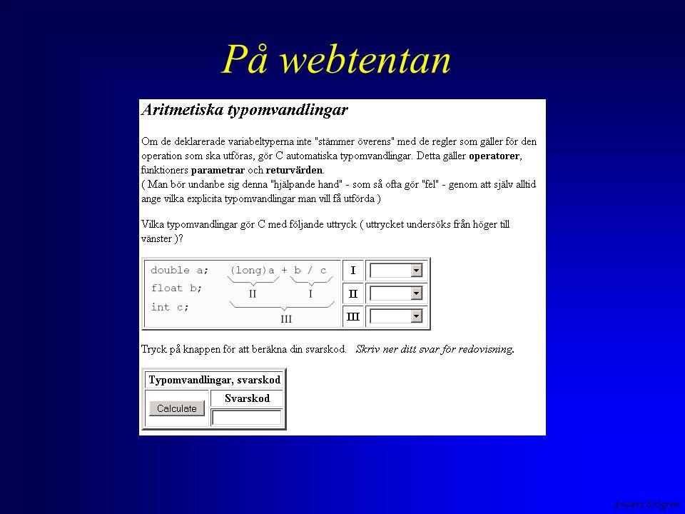 Anders Sjögren På webtentan