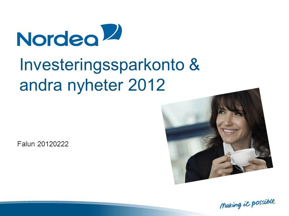 Investeringssparkonto & andra nyheter 2012 Falun 20120222