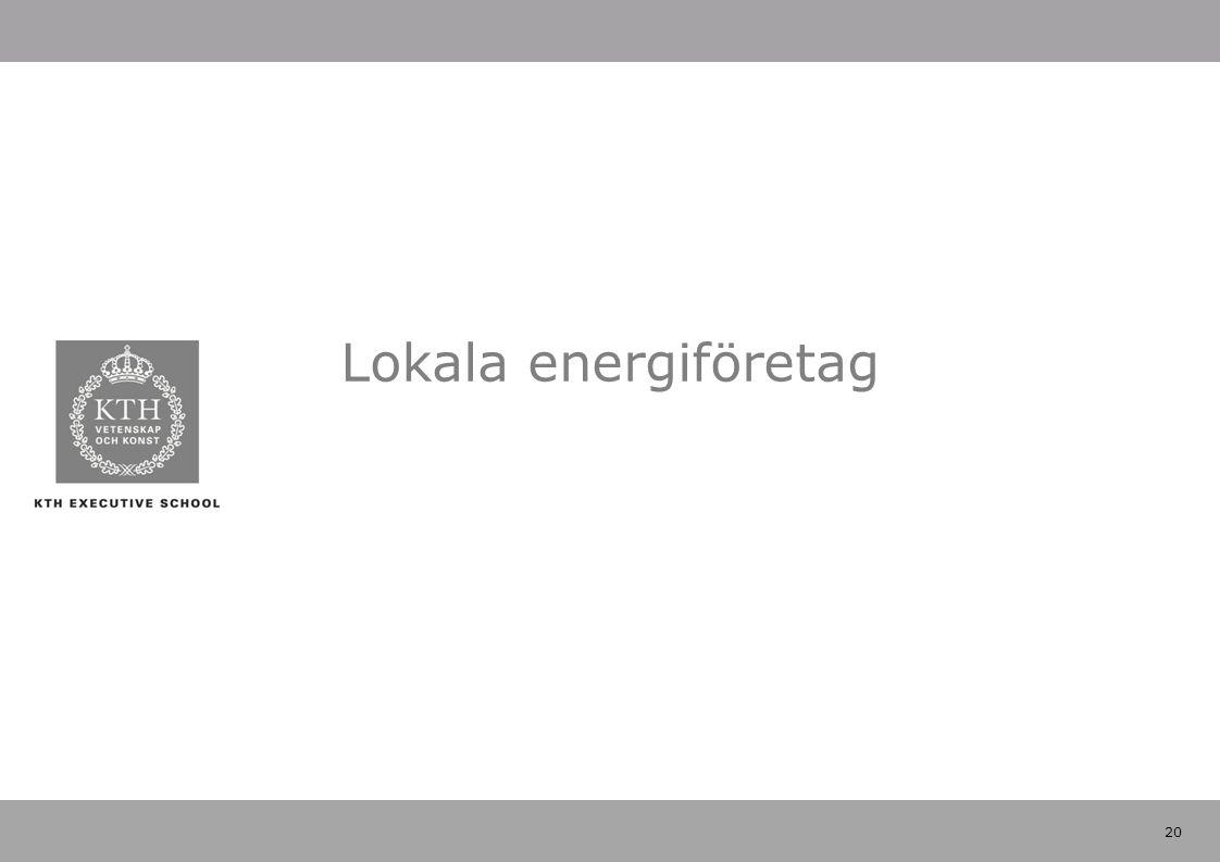 20 Lokala energiföretag