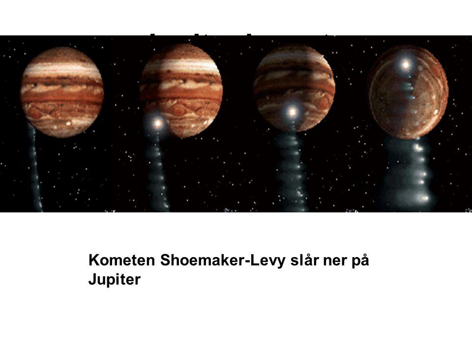 Jupiter komet Kometen Shoemaker-Levy slår ner på Jupiter