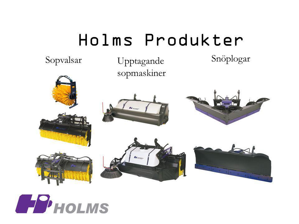 Holms Produkter Sopvalsar Upptagande sopmaskiner Snöplogar