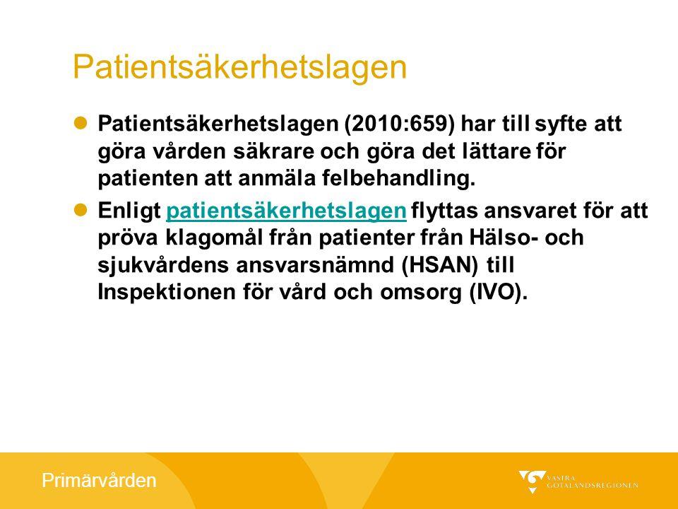 Primärvården PdL, Skyldigheten att föra patientjournal Vid vård av patienter ska det föras patientjournal.