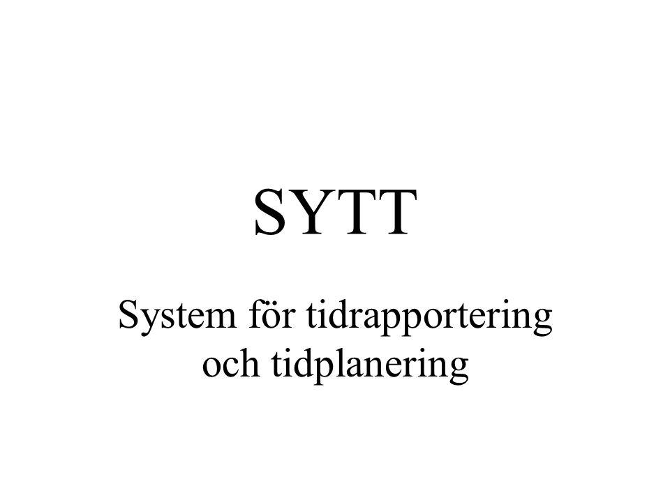 SYTT System för tidrapportering och tidplanering