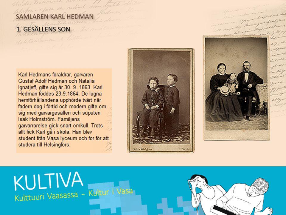 Uppgift 2 Vad tidningarna berättar: Bekanta dig med Hedmans liv och dåtida Vasa med hjälp av materialen.