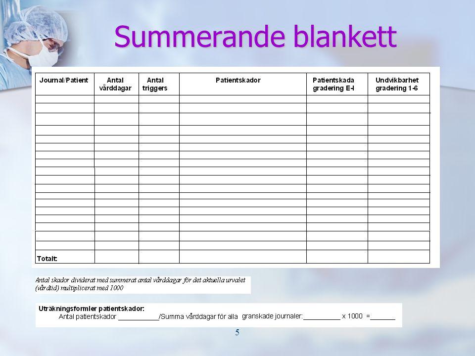 5 Summerande blankett