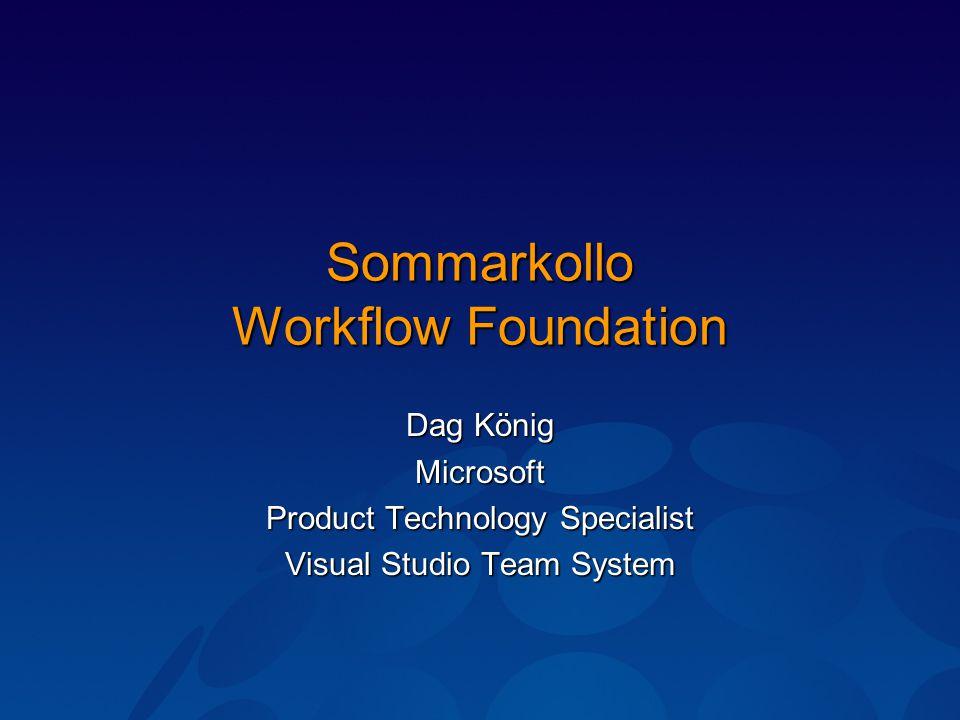 Demonstration Hello Workflow i WinForms