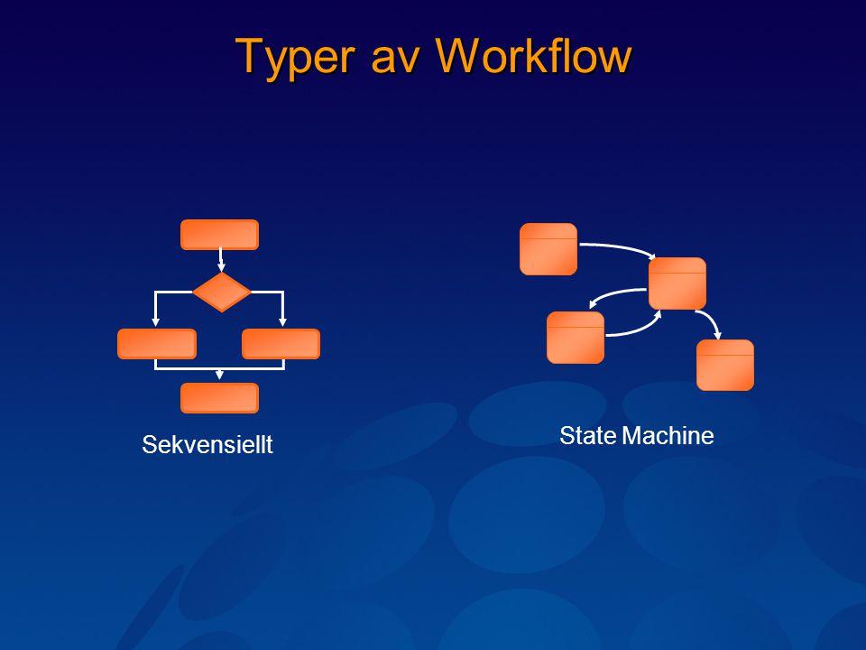 Typer av Workflow Sekvensiellt State Machine