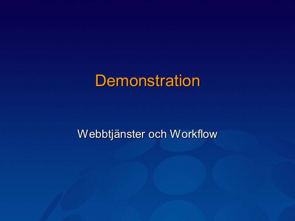 Demonstration Webbtjänster och Workflow