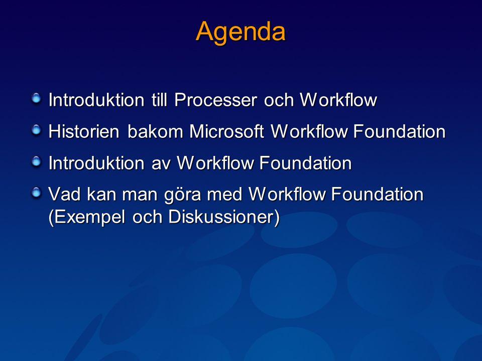 Introduktion till Processer och Workflows