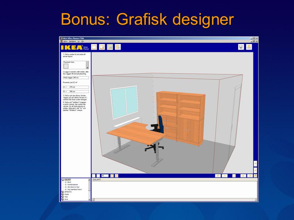 Bonus: Grafisk designer