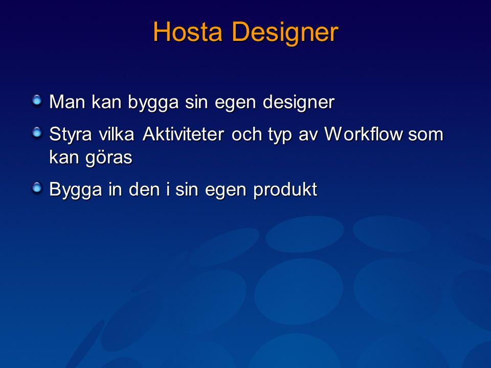 Hosta Designer Man kan bygga sin egen designer Styra vilka Aktiviteter och typ av Workflow som kan göras Bygga in den i sin egen produkt