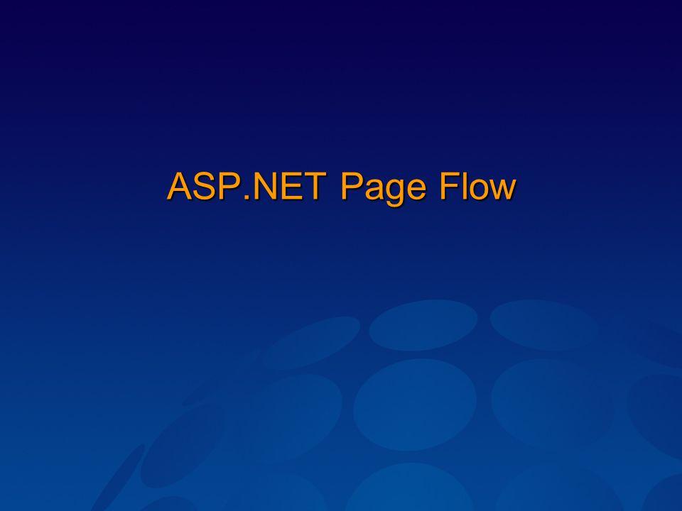 ASP.NET Page Flow