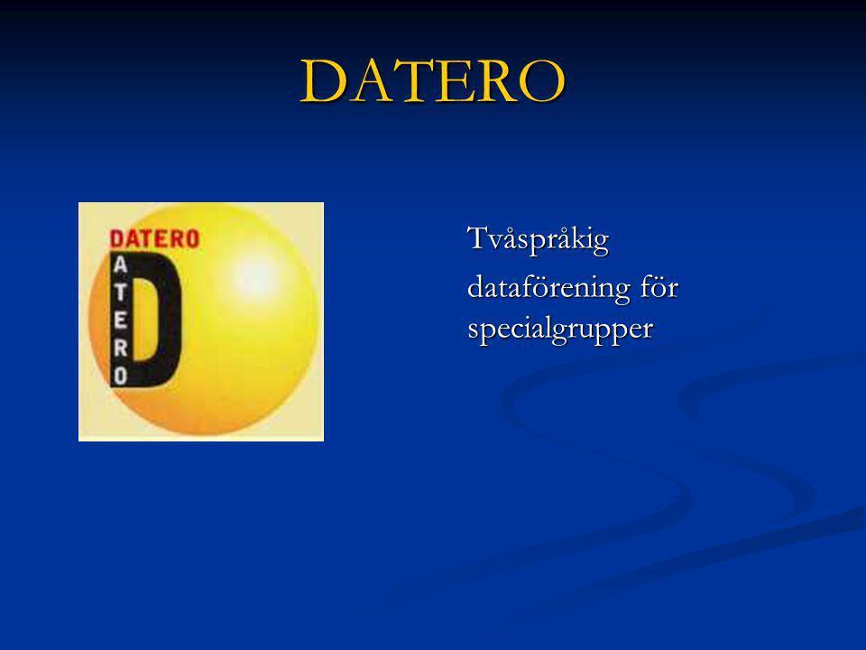 DATERO Tvåspråkig dataförening för specialgrupper