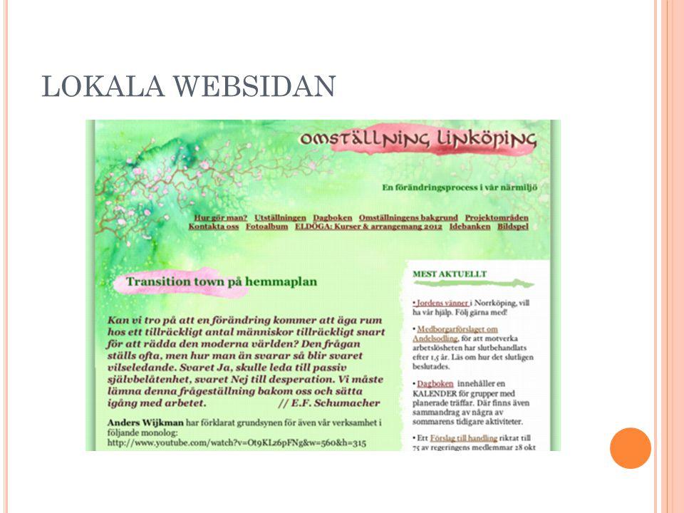 LOKALA WEBSIDAN