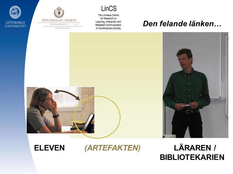 ELEVEN (ARTEFAKTEN) LÄRAREN / BIBLIOTEKARIEN Den felande länken…