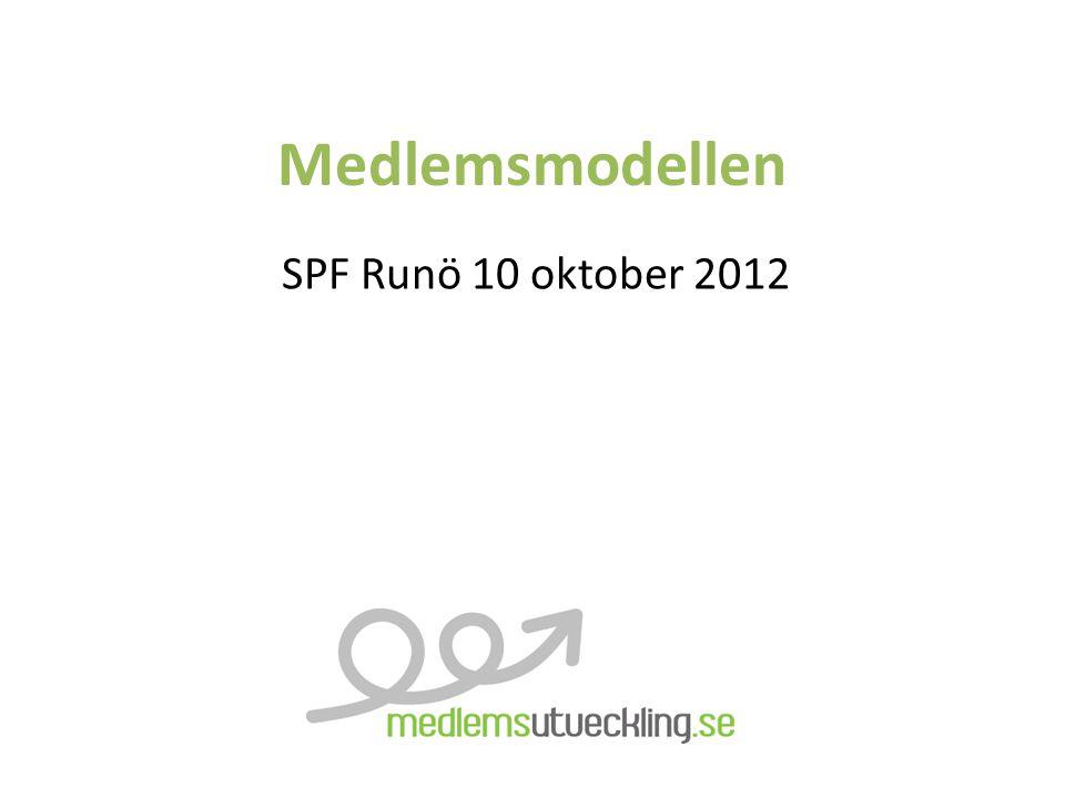 Medlemsmodellen SPF Runö 10 oktober 2012