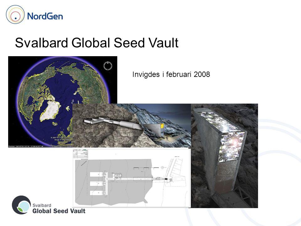 Svalbard Global Seed Vault Invigdes i februari 2008