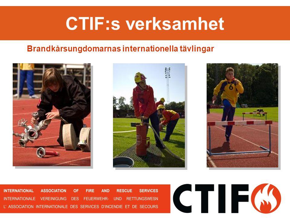 CTIF:s verksamhet Brandkårsungdomarnas internationella tävlingar