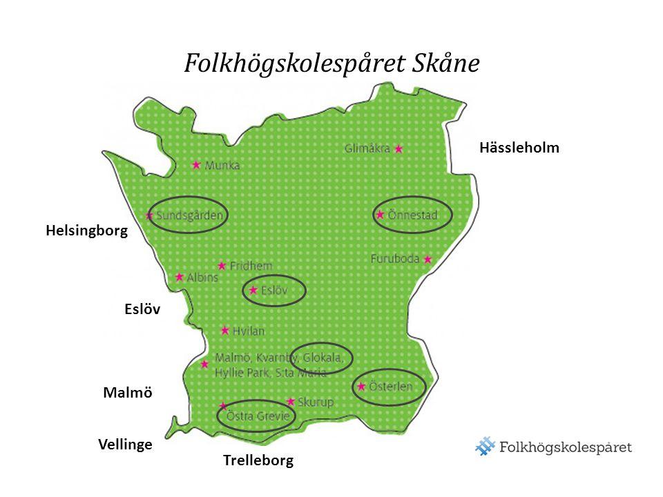 Folkhögskolespåret Skåne Helsingborg Malmö Trelleborg Vellinge Hässleholm Eslöv