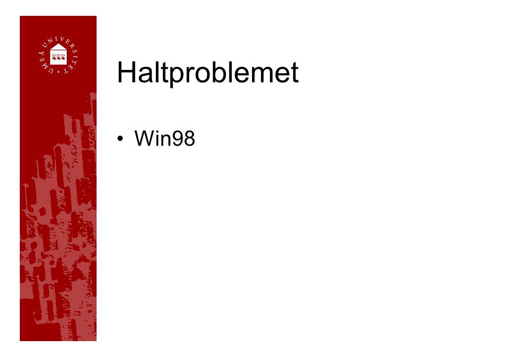 Haltproblemet Win98