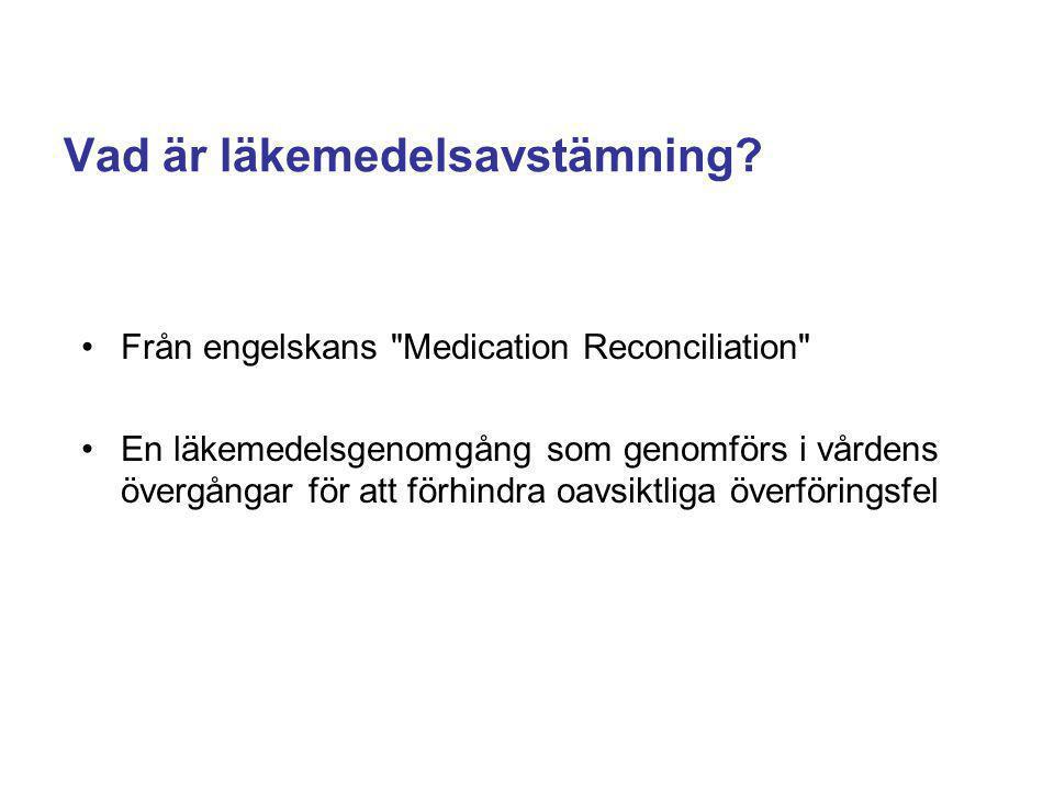 Vad är läkemedelsavstämning? Från engelskans