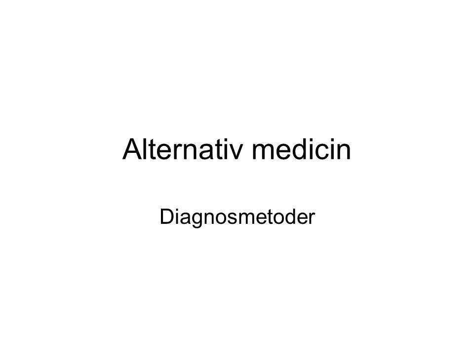 Alternativ medicin Diagnosmetoder