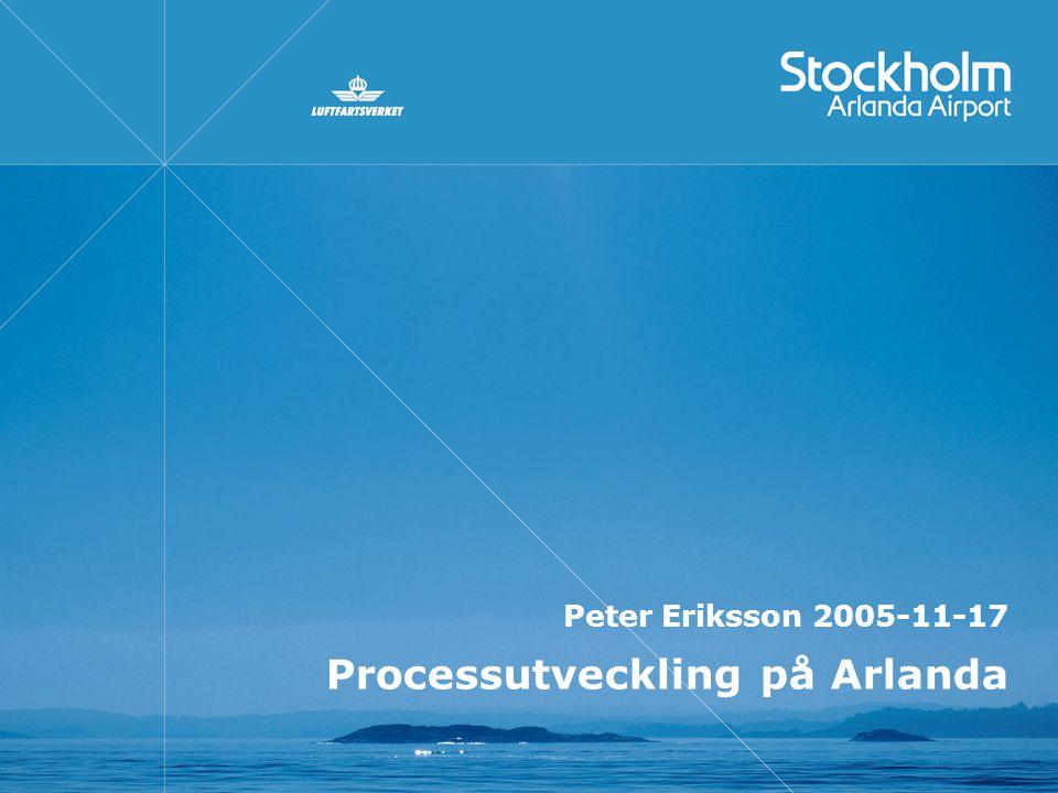 Processutveckling på Arlanda Peter Eriksson 2005-11-17